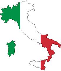 """Kaart en """"vlag"""" Italie"""