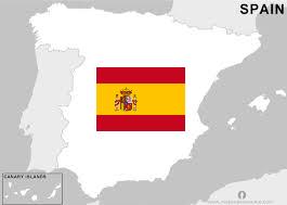 Spanje met vlag