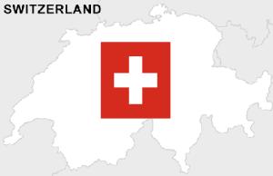 Zwitserland kaart en vlag